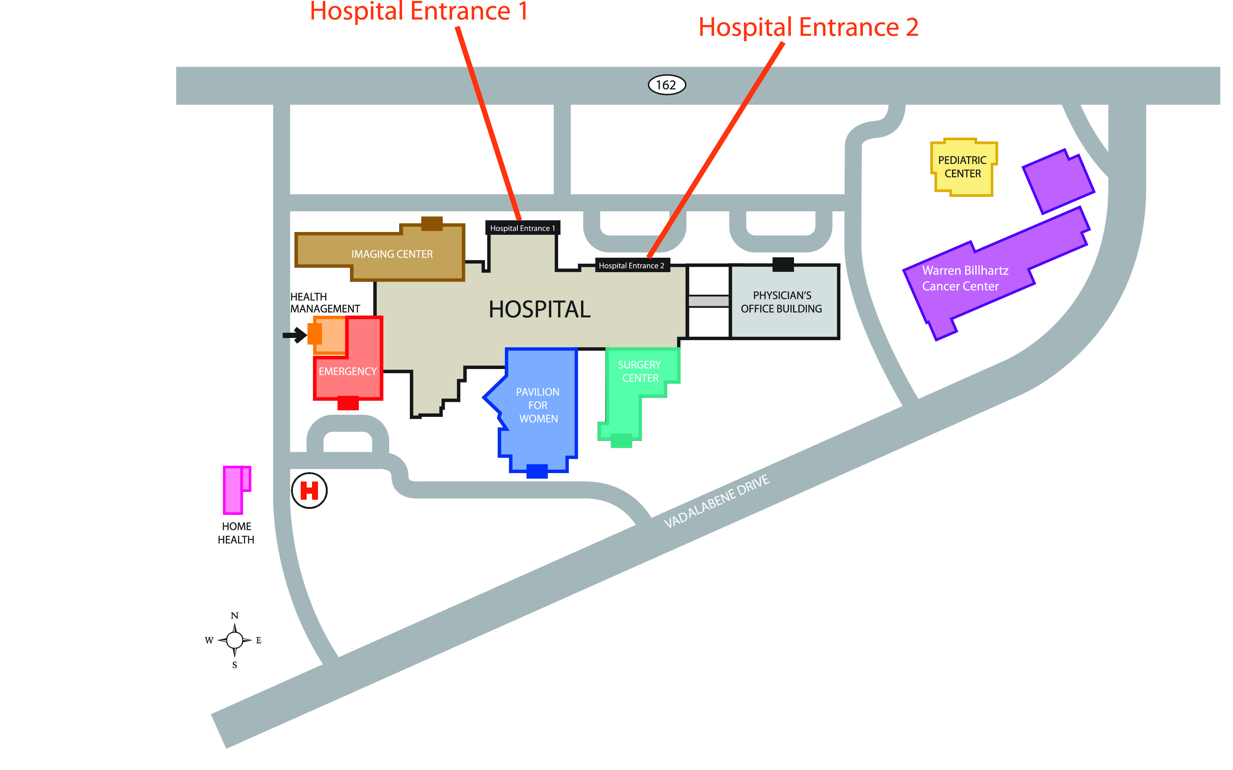 Directions Parking Maps Anderson Hospital