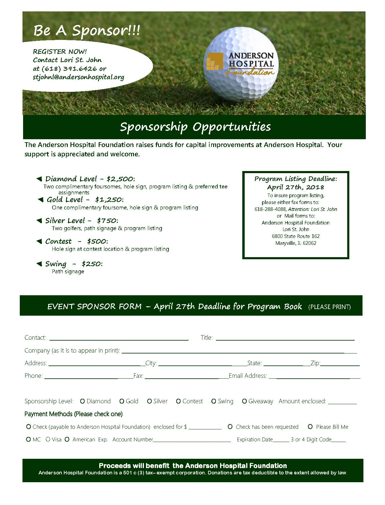 2018 Golf Flyer Page 2