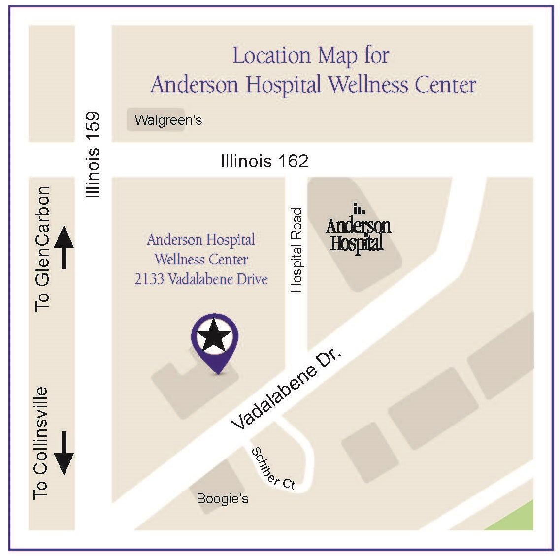 Anderson Wellness Center Map