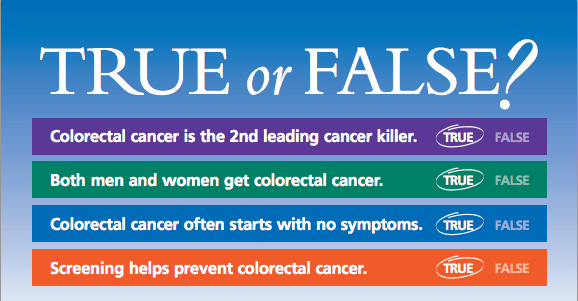 Colorectal Cancer True or False