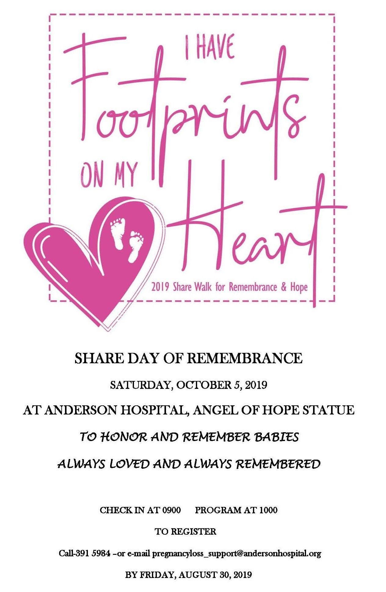 FLIER FOR DAY OF REMEMBRANCE 2019